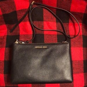 Michael Kors Pebble Leather Double Pouch Bag